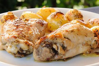 pollo con patate novelle