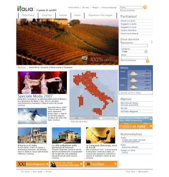Home page del sito d'oro Italia.it
